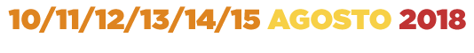 Pamali 2018 10-11-12-13-14-15 Agosto 2018